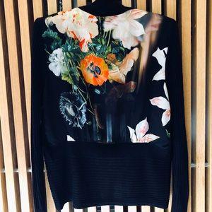 Ted Baker Black Behula Opulent Bloom Cardigan